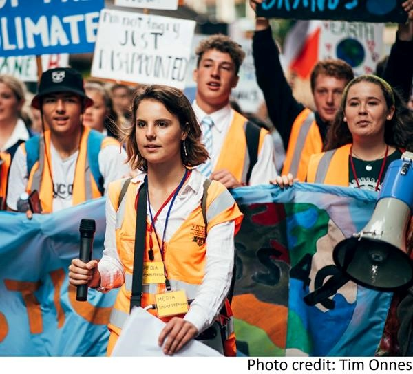 Raven Maeder on climate march