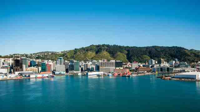 Wellington's waterfront on a sunny day