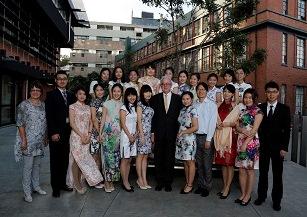 21 MLAs with Tony, Hui at Orientation Reception