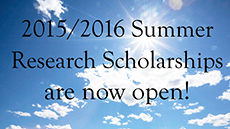 Summer Research Scholarship applications close on September 16