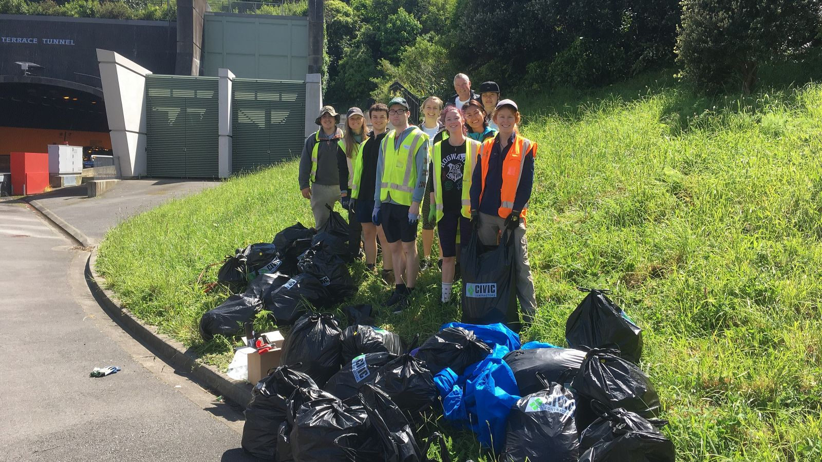 VicPlus students assist with tunnel clean-up