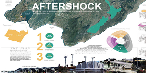 The group's winning concept design: Aftershock
