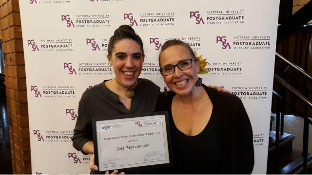 L-R: Jessica Marinaccio and Dr April Henderson, Programme Director of Va'aomanū Pasifika